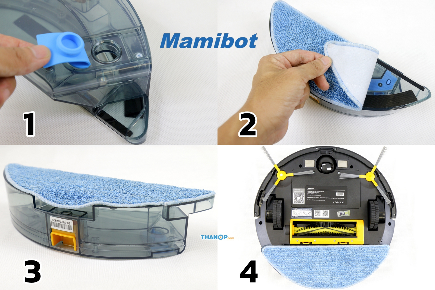 Mamibot EXVAC660 Platinum Water Tank and Microfiber Cloth Installation