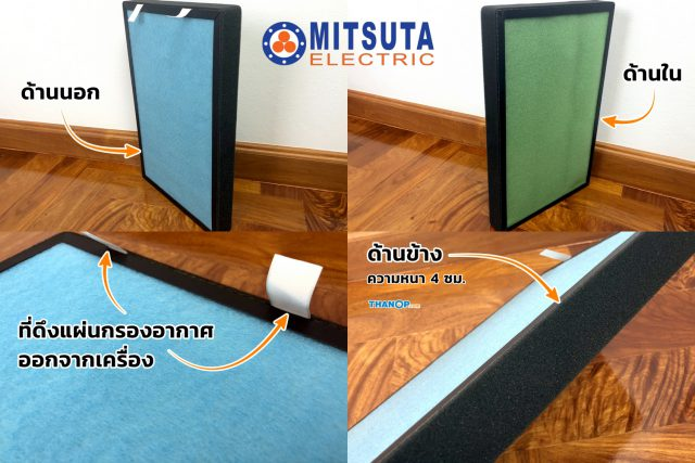 MITSUTA MAP450 All-in-One Air Filter Detail