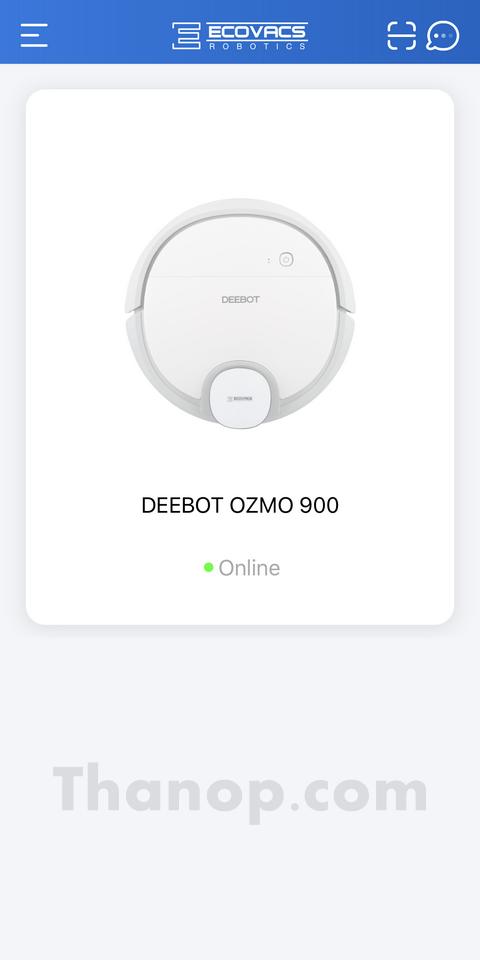 ECOVACS DEEBOT OZMO 900 App Interface Device List