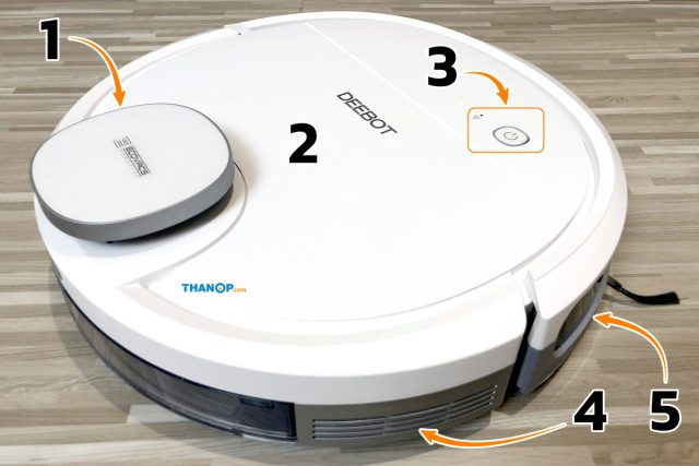 ECOVACS DEEBOT OZMO 900 Component Top