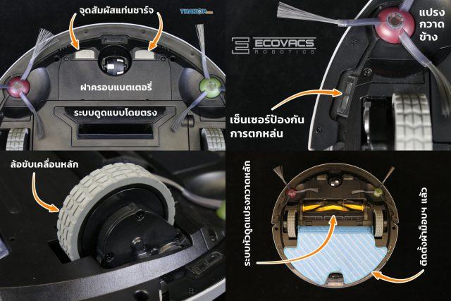 ECOVACS DEEBOT OZMO 900 Underside Detail