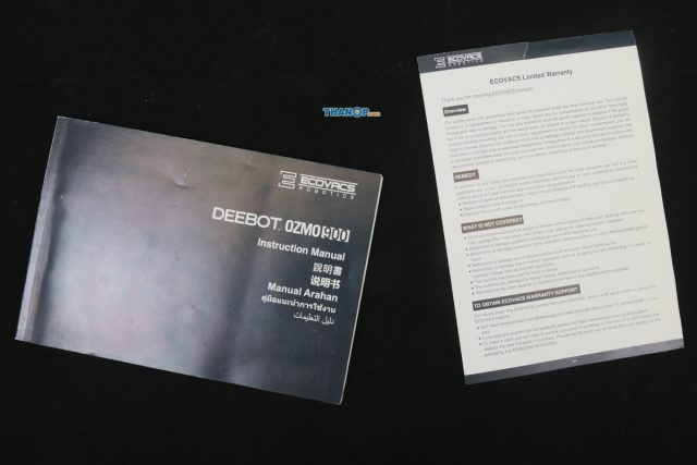ECOVACS DEEBOT OZMO 900 User Manual and Limited Warranty Card
