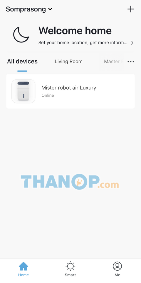 Mister Robot Air Purifier LUXURY App Interface Device List