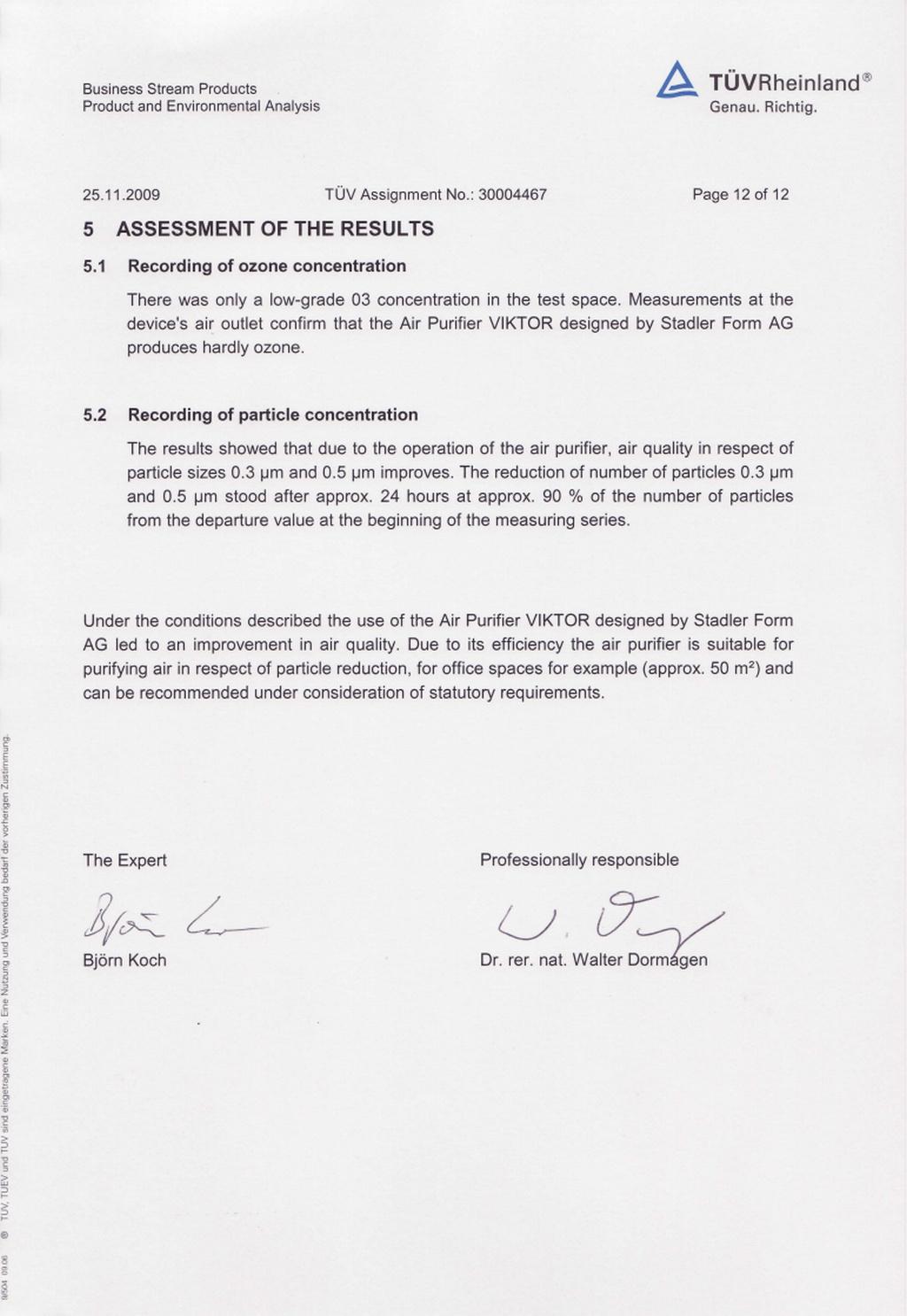 Stadler Form Viktor Feature TÜV Rheinland Assessment Verification