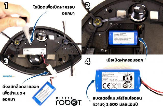Mister Robot Hybrid LASER Map Battery Removal