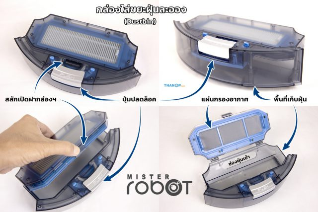 Mister Robot Hybrid LASER Map Dustbin Detail