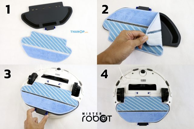 Mister Robot LASER MAX Microfiber Cloth and Plate Installation