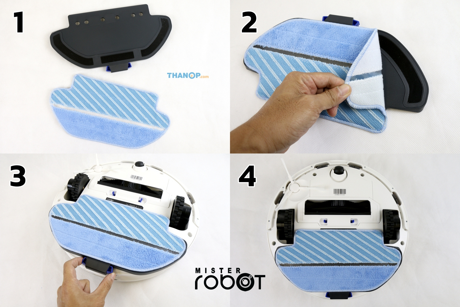 mister-robot-laser-max-microfiber-cloth-and-plate-installation