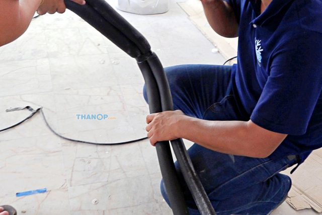 Cassette Type Air Conditioner Liquid Line Insulation Installation