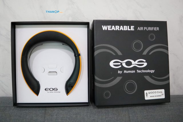 EOS Wearable Air Purifier WAP-10 Box Unpacked