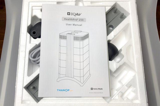 IQAir HealthPro 250 Accessory Box Unpacked