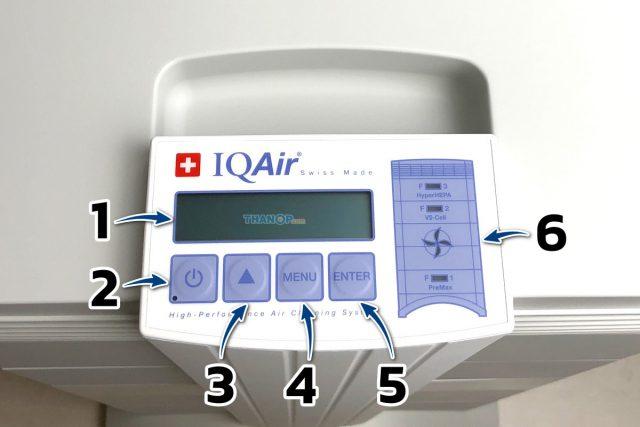 IQAir HealthPro 250 Component Control Panel