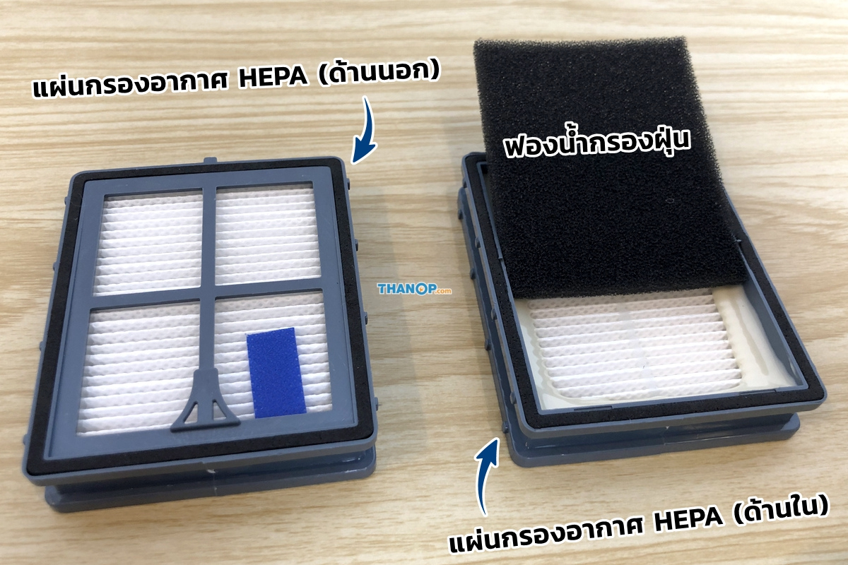 HOMU UV Vacuum Cleaner HEPA Filter and Sponge Filter