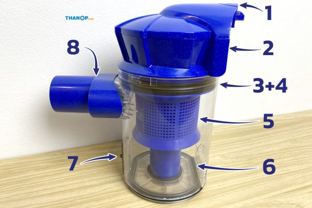 JOWSUA Cyclone Vacuum Cleaner Component Dust Canister