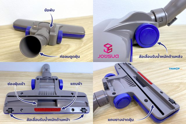 JOWSUA Cyclone Vacuum Cleaner Floor Brush Detail