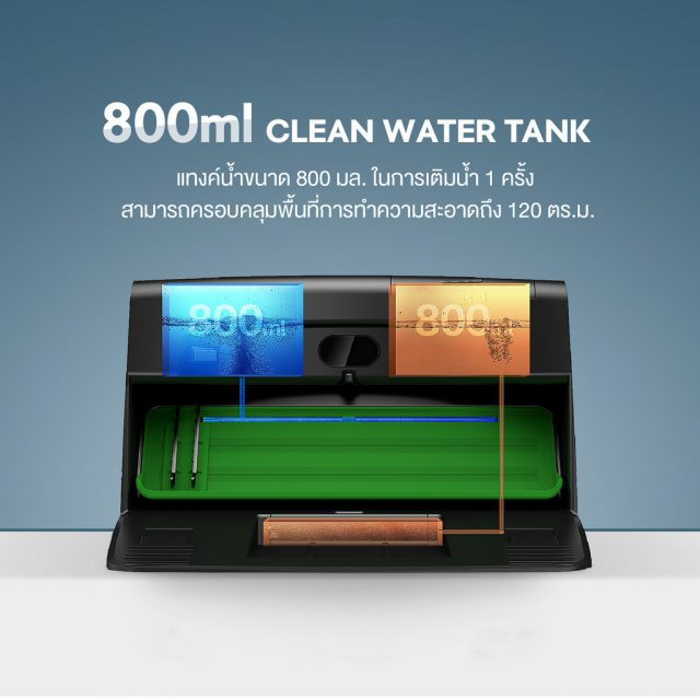 AUTOBOT Veniibot Feature Separate Clean and Dirty Water Tank
