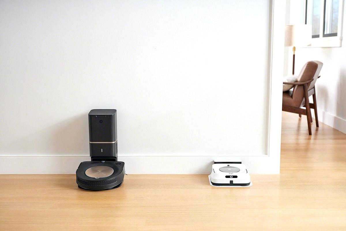iRobot Braava jet m6 Feature Imprint Link for Coworking with Robot Vacuum
