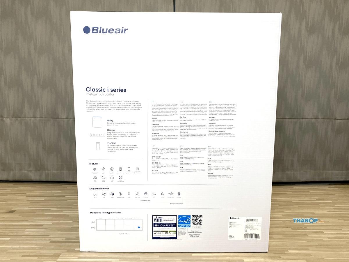 Blueair Classic 690i Box Rear