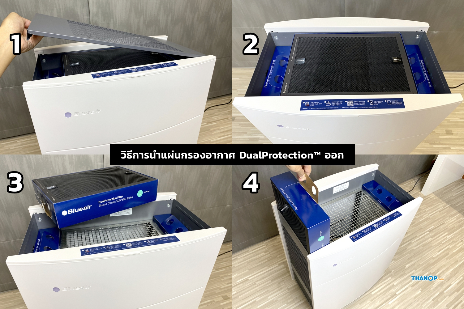 Blueair Classic 690i DualProtection™ Filter Removal